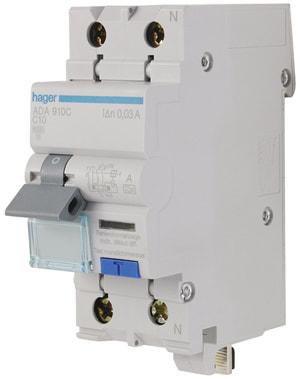 Disjoncteur automatique différentiel 10A 10mA