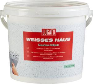 Weisses Haus Kunstharz-Rollputz