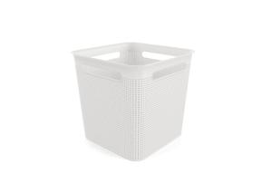 Boîte carrée 18l Brisen blanc
