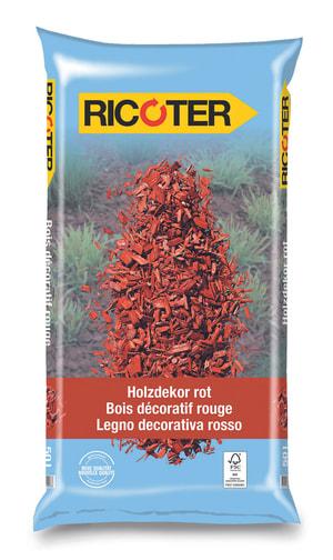 Bois décoratif rouge, 50 l