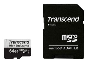 microSDXC Card 350V, 64GB SDXC inkl. Adaptateur