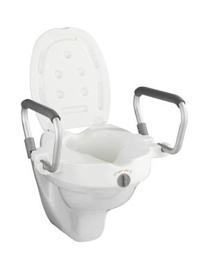 WC-Sitz Erhöhung mit Stützgriffen