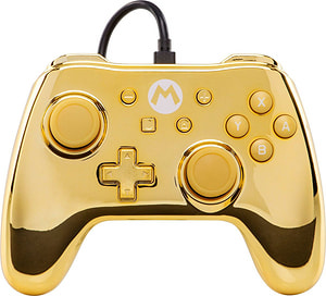 Chrome Controller Gold Mario
