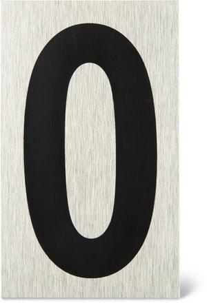 Plaque chiffre 0