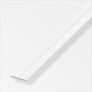 Barra piatta 7.5 mm PVC bianco 1 m