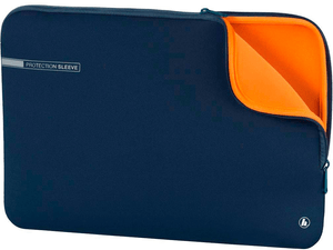 "Notebookhülle ""Neoprene"" 15.6"" - blau / orange"