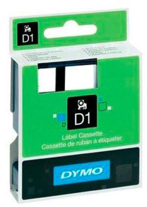Schriftband D1 schwarz/weiss 19mm/7m