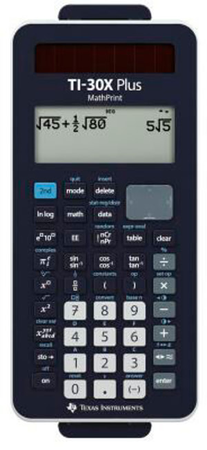 Plus MathPrint Calculatrice scolaire TI-30X+MP