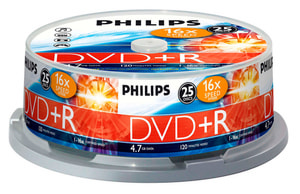 DVD+R 4.7 GB 25-Pack