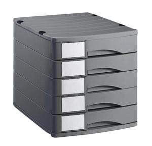 Cassettiera da ufficio 5 cassetti chiusi PROFILINE