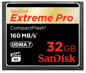 ExtremePro 160MB/s Compact Flash 32GB