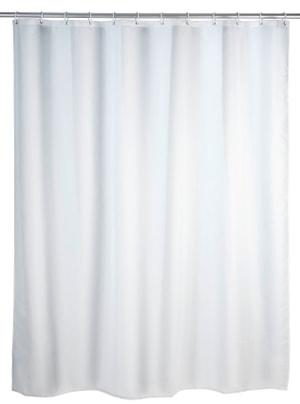 Rideau de douche Uni blanc, Polyester