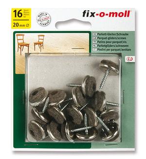 Patins pour parquet avec vis 5 mm / Ø 20 mm 16 x