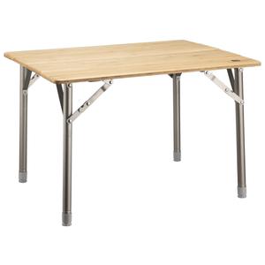 Table de camping bambou