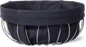 Cesto bordato con fascia in stoffa