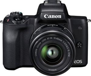 EOS M50 + EF-M 15-45mm IS STM incl. poche + carte mémoire de 16Go