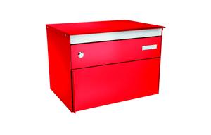 Briefkasten s:box13 Feuerrot/Feuerrot