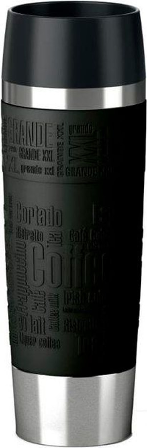 Travel Mug Grande 0.5 l, Silber Schwarz