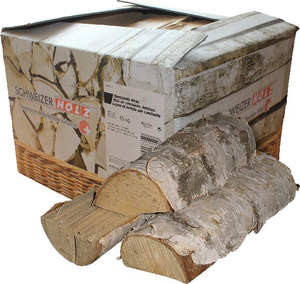 Bois de chauffage bouleau, 15 kg carton