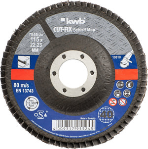 CUT-FIX® Straccio abrasivo, per metallo, ø 115 mm, K40