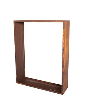 Scaffale p. la legna a catasta 2 ruggine