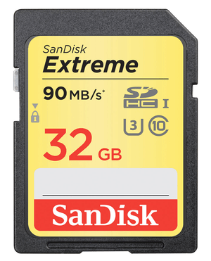 Extreme 90MB/s 32GB SDHC-Carte mémoire