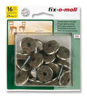 Patins pour parquet avec vis 5 mm / Ø 24 mm 16 x