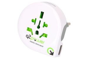Q2Power Reiseadapter Welt nach Schweiz mit USB