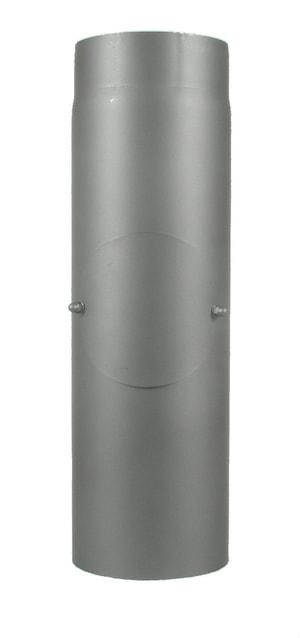 Rauchrohr 100 cm, mit Putzdeckel