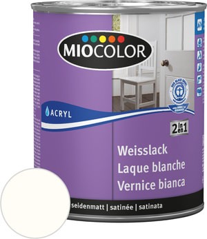 Acryl Weisslack seidenmatt reinweiss 375 ml