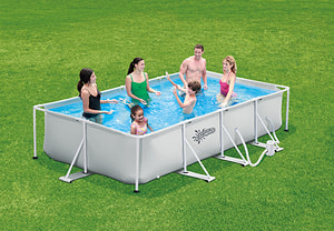Piscine tubulaire rectang. 457x213x84cm