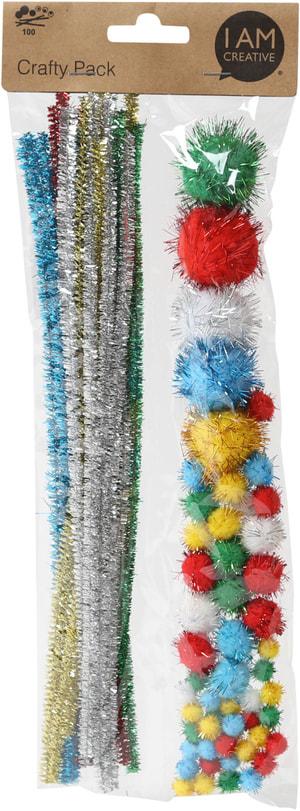 Chenille, Pompon glitter