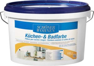 Peinture pour cuisine et salle de bain Blanc 2.5 l