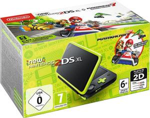 New 2DS XL Schwarz/apfelgrün inkl. Mario Kart 7