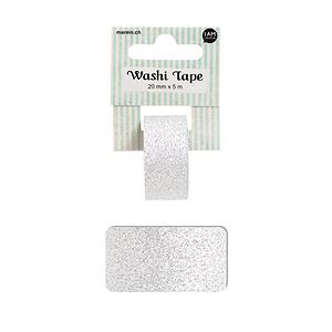 Washi glitter silver 2CMX5M