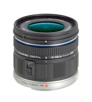 M.Zuiko DIGITAL ED 9-18mm f/4.0-5.6 Objectif Noir