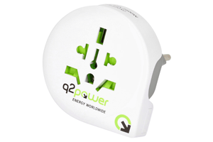 Q2Power Reiseadapter Welt nach Schweiz