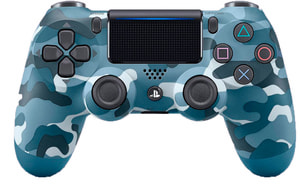 PS4 Wireless DualShock Controller v2 blue camouflage
