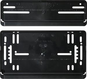 Set per portatarga nero verticale