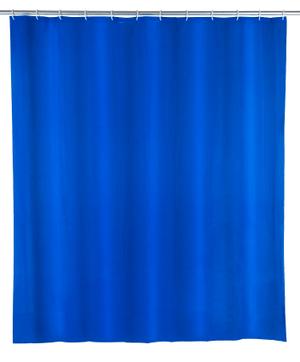 Rideau de douche Uni bleu nuit, PEVA