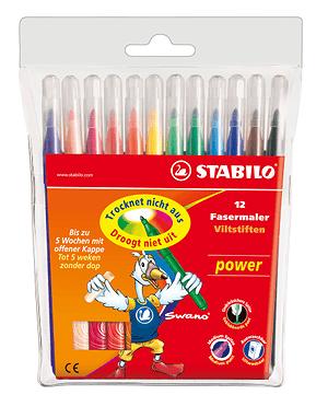 Pennarello STABILO® power, 12 pennarelli