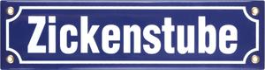 Panneau en émail Zickenstube