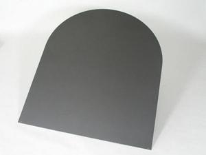 Plaque de sol acier demi-ronde gris