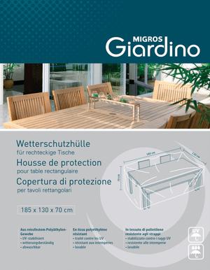 Housse de protection pour table rectangulaire