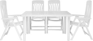 Set Tisch mit 4 Sesseln