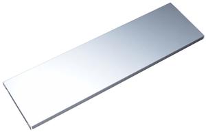 Base in acciaio 800 x 250 mm alluminio bianco 2x