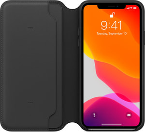 iPhone 11 Pro Leather Folio Noir