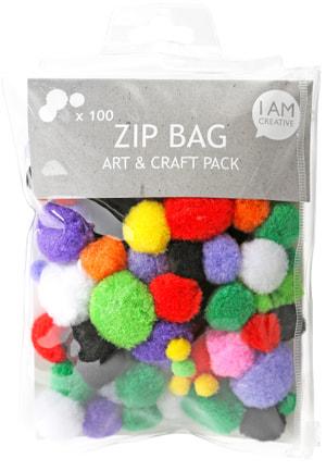 Set de pompons, Zip