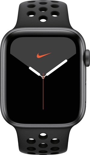 Watch Nike Series 5 LTE 44mm space gray Aluminium Anthracite Black Nike Sport Band