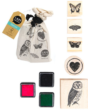 Stamps in a bag, 5pcs, Animal